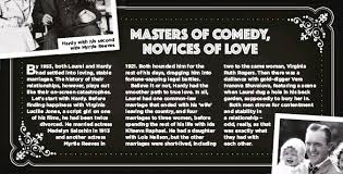 MASTERS OF COMEDY, NOVICES OF LOVE - PressReader
