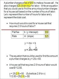 24 graphing linear equations word