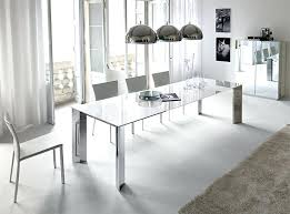 modern glass dining room tables. Stainless Steel And Glass Dining Table Modern Top With A Base By Modrest Adderley W Room Tables