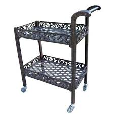 outdoor rolling storage cart bar carts furniture the home depot ab compressed outdoor kitchen rolling cart