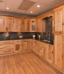 rustic hickory shaker kitchen cabinetry woodcabinets4less