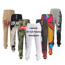 Design Own Sweatpants Dropshipping Custom Logo 3d Printed Sublimation Wholesale Cheap Pants Camo Womens Men Sweatpants Design Your Own Joggers Unisex Buy Design Your Own