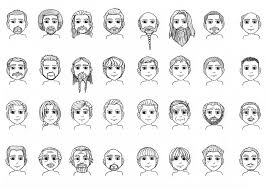 Male Hair And Beards Reference Chart 2 2013 In 2019