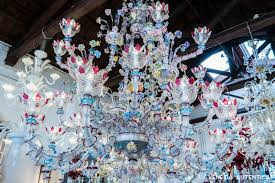hand made murano glass chandelier in rezzonica style or a ciocche at bisanzio glass