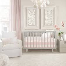 Oilo's Capri Crib Set  Blush Pink. Nursery design. Baby Girl.