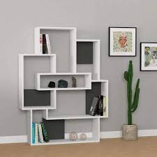 White modern bookshelf Pearl Minimalist Modern Bookcase White Grey Burgundy Oak Bookshelf Contemporary By Modern Modern Furniture Deals Up To 70 Off Bookcases