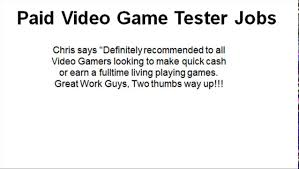 how to high paying video game tester jobs online