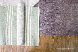 how to choose the best rug pad for flatweave cotton rugs