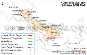 northern eastern railway zone india Northern Train Line Map northern eastern railway zone map northern train line map