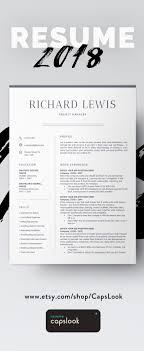 Modern Resume Template Cv Template Cover Letter Professional And