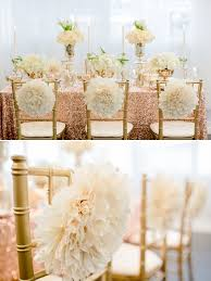 gold and white wedding ideas whimsical chair decor