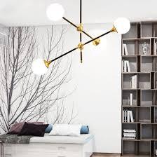 post modern gold black glass kitchen pendant lighting chandelier in 2 4 6 lights