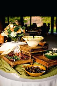 round table lunch buffet decorating ideas vertical arrangement food pizza