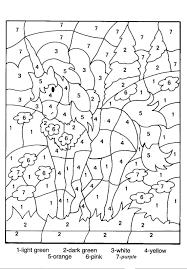 Color By Number Coloring Pages For Kids Horse 塗り絵 塗り絵