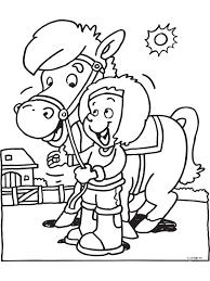 Kleurplaat Meisje En Paard Kleurplatennl