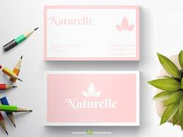 Simple Baby Pink Business Card Freebcard