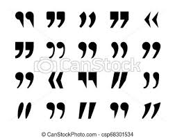 Punctuation Quotes Quotes Marks Quotation Marking Quote Mark Comma Double Commas Speech Punctuation Text Excerption Typography Marking Vector Icon