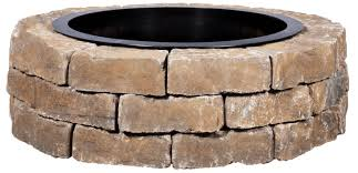 best diy ashland concrete fire pit kit 43 5 in w x 43 5 in l ashland concrete firepit kit