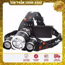 Giảm 60%] Đèn Pin Đội Đầu 3 Bóng Cao Cấp 3xCREE T6 Siêu Sáng Có Sạc - Đèn  pin Hãng No brand