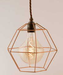 industrial vintage with red bronze rose gold hexagon cage with e27 4w sculpture extra large spiral led pendant lamp with old english holder fabric cable