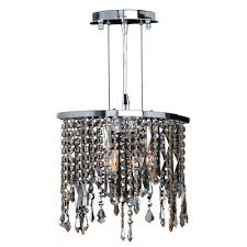 worldwide lighting fiona collection 2 light chrome with multi colored crystal pendant