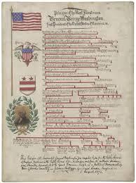 Presidents Genealogy Chart Todaysdocument George Washingtons Family Tree Pedigree Of