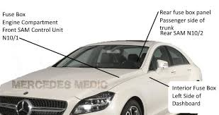 mercedes benz cls fuse box diagram w cls 2012 2016 fuse box location