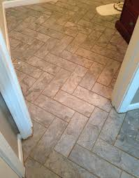 herringbone vinyl tile pattern via grace gumption