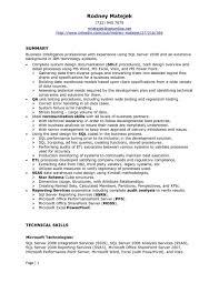 Sql Server Developer Resume Examples Resume Template Splendid It Developer Resumeles Sql Sharepoint 1