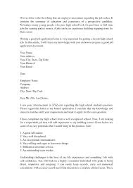 school cover letter high school cover letter no experience 7 best images about on high