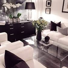 photography fashion home decor room design luxury flowers Interior Living  Room blackandwhite modern pillows Table girly