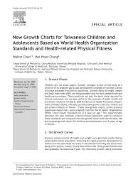 Physical Development Chart From Birth To 19 Years Pdf New Growth Charts For Taiwanese Children And