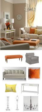 Orange Obsession. Grey And Orange Living RoomGrey ...