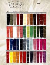 Color Chart Stylecraft Manufacturer Custom Made