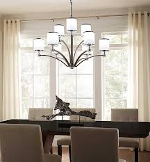 the size of your dining room table and room will determine what size chandelier looks best