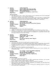 crane operator resume sample