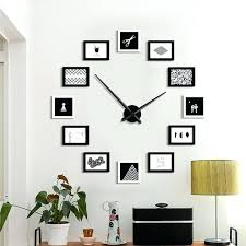 large diy wall clock modern design 12 photo frame clocks creative large diy wall clock modern contemporary oversized wall clocks