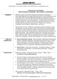 Resume Format For Mechanical Engineering Freshers Download