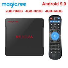 Magicsee N5 NOVA 4GB 64GB RK3318 Quad Core Android 9.0 Tv Box 2.4G 5G Wifi  BT4.0 Smart Set Top Box 4K H.264 Video Media Player Pc Tv Box Top Box Tv  From