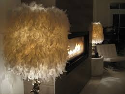 diy feather lamp shade