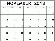 pdf printable calendar 32 best november 2018 printable calendar images blank calendar