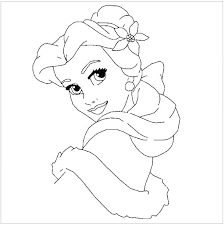 Belle Princess Coloring Pages Free Printable Belle Coloring Pages
