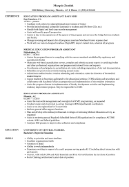 Program Assistant Resume Education Program Assistant Resume Samples Velvet Jobs 1