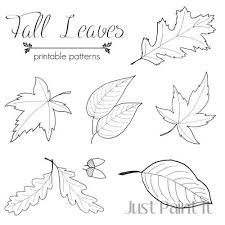 Fall Leaf Pattern Adorable Fall Leaf Patterns For Crafts Painting Embroidery Appliques