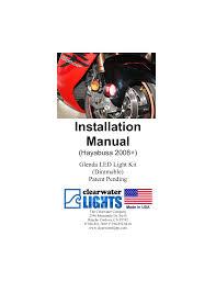 Clearwater Glenda Led Motorcycle Driving Lights Suzuki Hayabusa Late V5 0 Pub Manualzz Com