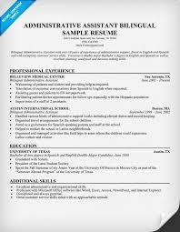 Bilingual Resume Sample