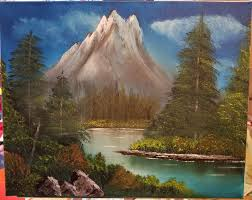 our first bob ross painting
