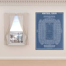 Print Of Vintage Montreal Forum Seating Chart On Your Choice Of Photo Paper Matte Paper Or Stretched Canvas