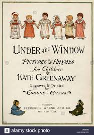 title page design under the window by kate greenaway stock photo stock photo title page design under the window by kate greenaway
