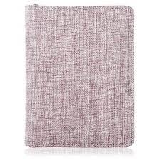 delicate linen notebook